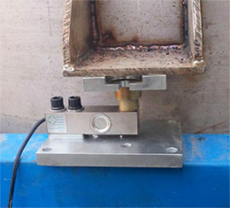 Load cells for concrete mixing plant