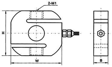 S type load cell 5kg to 500kg dimentional drawing
